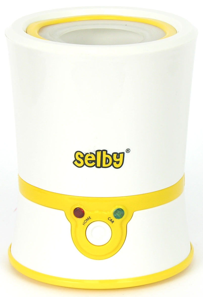 Selby BW-11 - подогреватель детского питания с функцией стерилизации, подогрев в котором осуществляется без добавления воды, что обеспечивает быстрый и равномерный разогрев молока, смеси и детского питания. Температура нагрева составляет 40°C, также устройством предусмотрено автоматическое поддержание температуры, силиконовое кольцо для фиксации бутылочки и наиболее равномерного подогрева питания и система термостатического контроля, которая исключает перегрев пищи. В комплекте вы найдете автомобильный адаптер, который позволит использовать устройство в путешествиях.