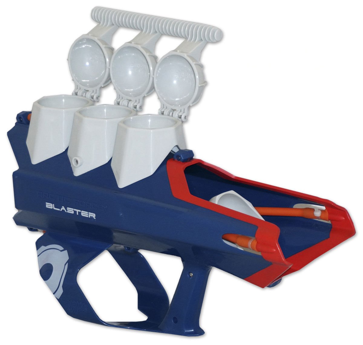 СнежкоБластер Тройной SnowBall Blaster, SB-38135SB38135Вес: 1,090 гРазмеры ДхВхШ: 50*32*14Материал: пластик
