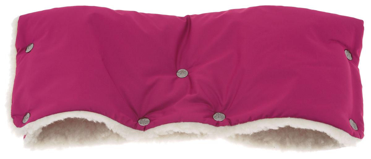 Чудо-Чадо Муфта для рук на коляску меховая цвет вишневый, ИП Ярошенко Л.В.