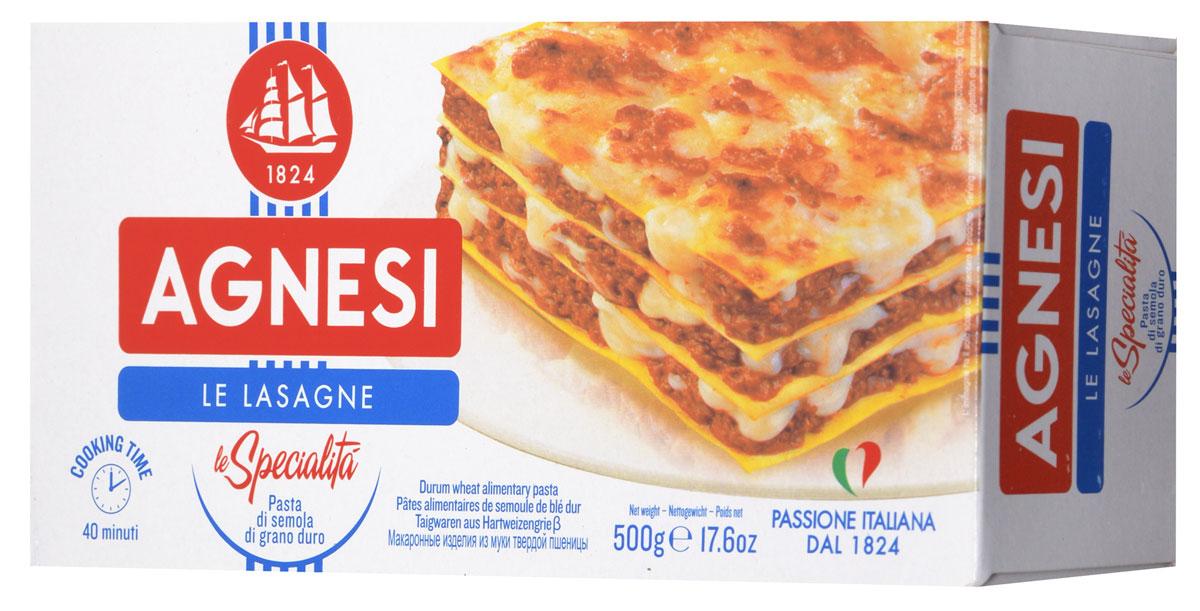 Agnesi Лазанья макароны, 500 г0120710Agnesi - это одна из старейших марок макарон в Италии. С 1824 года в итальянском городе Империя, расположенном на берегу Средиземного моря, семья Agnesi начала производить эти, благодаря своему качеству, широко известные макаронные изделия.Большие парусники, символ марки Agnesi, бороздили моря и океаны в поисках лучшей пшеницы твердых сортов. Лучшее зерно, привезенное с Юга Италии, Канады, Австралии и Аргентины непосредственно с кораблей направлялось на мельницу Agnesi, и сегодня считающейся самой длинной (синоним - самой качественной) мельницей Италии.