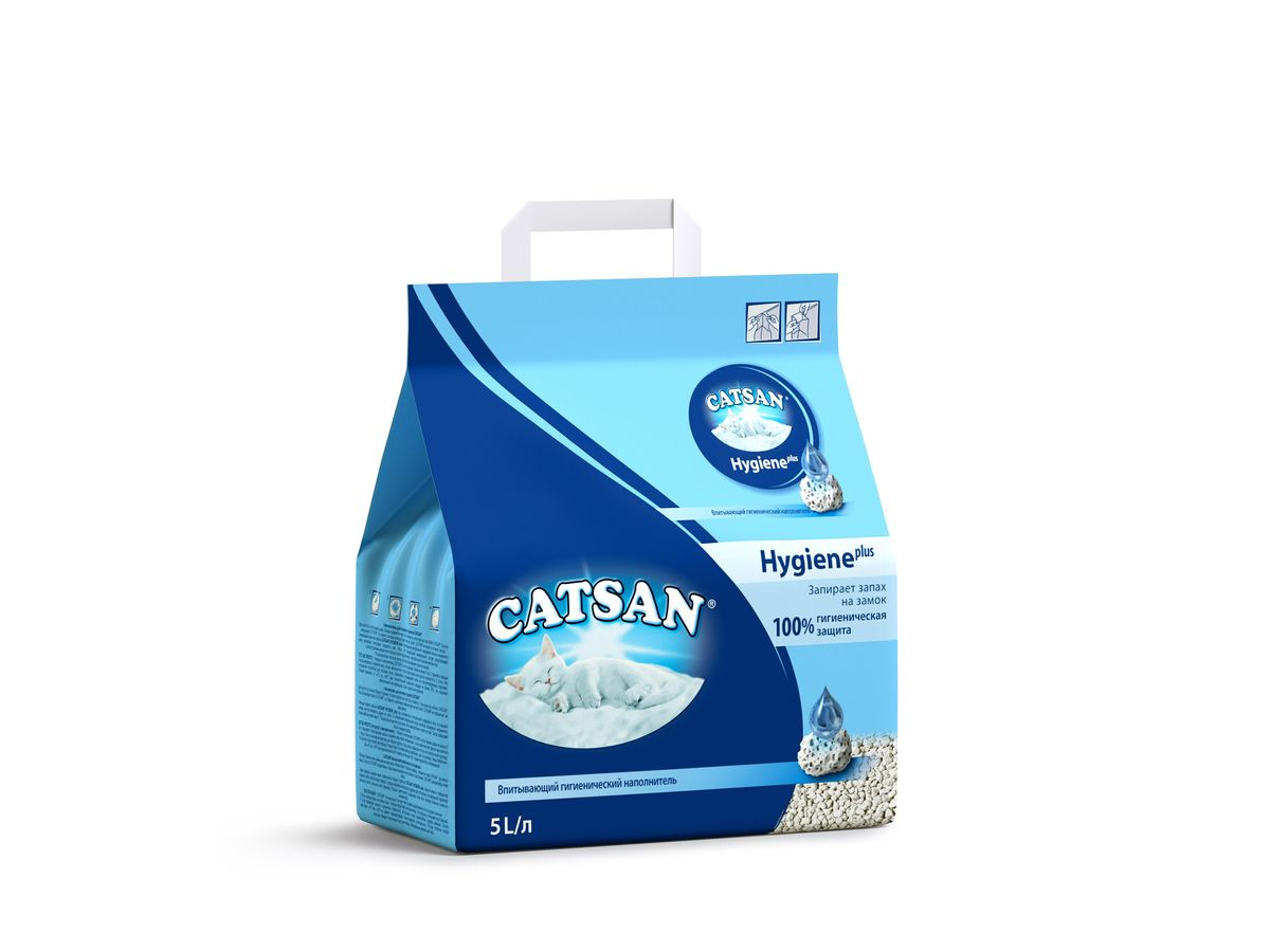 Наполнитель для кошачьего туалета Catsan, впитывающий, 5 л0120710Впитывающий гигиенический наполнитель Catsan Hygiene Plus обеспечит вашей кошке всегда чистый туалет и устранит неприятный запах. Уникальные минеральные гранулы с микропорами, состоящие из очищенного мела и натурального кварцевого песка, впитывают влагу, словно губка. Поверхность гранул при этом остается сухой и чистой. Запатентованная технология предотвращает рост бактерий и появление неприятного запаха в три раза эффективнее, чем обычный наполнитель. Наполнитель Catsan Hygiene Plus не содержит асбеста и отбеливателей. Рекомендации по применению:Насыпьте наполнитель в кошачий лоток слоем около 5 см. Твердые отходы удаляйте из лотка по мере их появления, а также регулярно перемешивайте наполнитель совочком. Рекомендуется полностью заменять наполнитель в лотке хотя бы 1 раз в неделю. Перед насыпанием новой порции наполнителя следует тщательно промыть лоток горячей водой с мягким очищающим средством (желательно, без запаха). Прежде чем насыпать наполнитель, убедитесь, что лоток полностью высох. Если у вас в доме теплые полы (смонтирована система подогрева полов), рекомендуется помещать под лоток изоляционный коврик. Это поможет избежать образования неприятных запахов от кошачьего туалета, которые могут появиться при нагреве влаги, которую впитали в себя гранулы наполнителя. Состав: очищенный мел, натуральный кварцевый песок и минеральные добавки.Объем: 5 л. Товар сертифицирован.