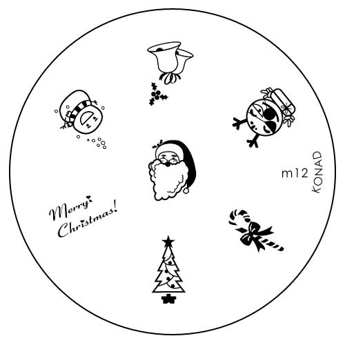 Konad Печатная форма (диск) M12 image plate50101Диск для стемпинга. Теперь создавать дизайны на ногтях стало очень просто