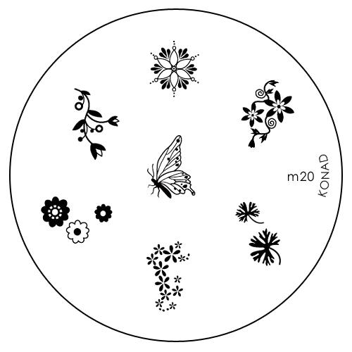 Konad Печатная форма (диск) M20 image plateWS 7064Диск для стемпинга. Теперь создавать дизайны на ногтях стало очень просто