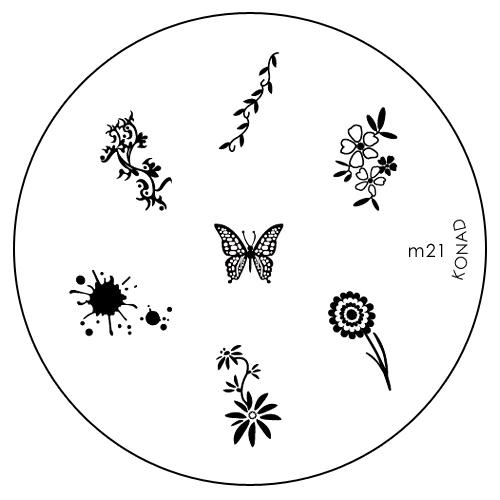 Konad Печатная форма (диск) M21 image plateWS 7064Диск для стемпинга. Теперь создавать дизайны на ногтях стало очень просто