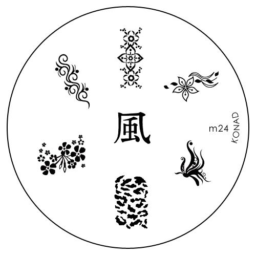 Konad Печатная форма (диск) M24 image plate1301210Диск для стемпинга. Теперь создавать дизайны на ногтях стало очень просто
