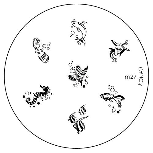 Konad Печатная форма (диск) M27 image plateWS 7064Диск для стемпинга. Теперь создавать дизайны на ногтях стало очень просто