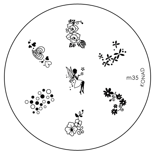 Konad Печатная форма (диск) M35 image plate50101Диск для стемпинга. Теперь создавать дизайны на ногтях стало очень просто