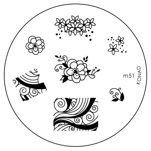 Konad Печатная форма (диск) M51 image plate3700388532229Диск для стемпинга. Теперь создавать дизайны на ногтях стало очень просто