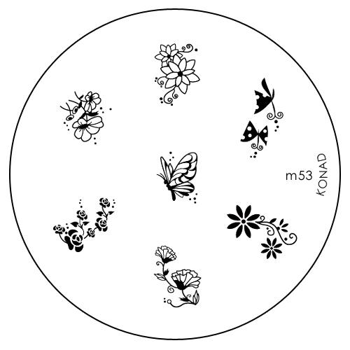 Konad Печатная форма (диск) M53 image plateSC-FM20104Диск для стемпинга. Теперь создавать дизайны на ногтях стало очень просто