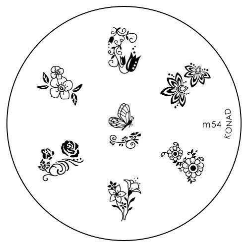 Konad Печатная форма (диск) M54 image plateFM 5567 weis-grauДиск для стемпинга. Теперь создавать дизайны на ногтях стало очень просто