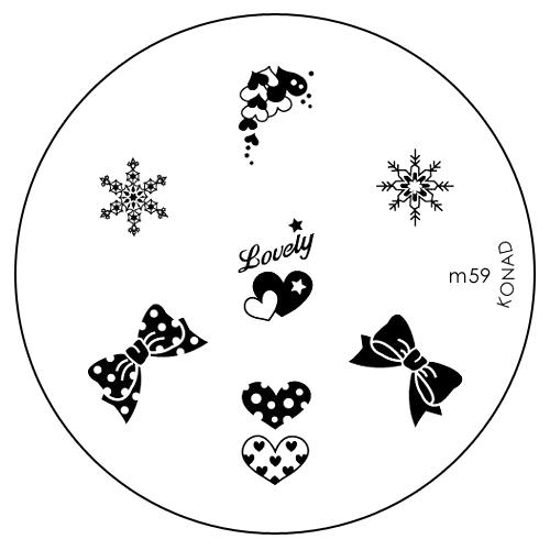 Konad Печатная форма (диск) M59 image plateWS 7064Диск для стемпинга. Теперь создавать дизайны на ногтях стало очень просто