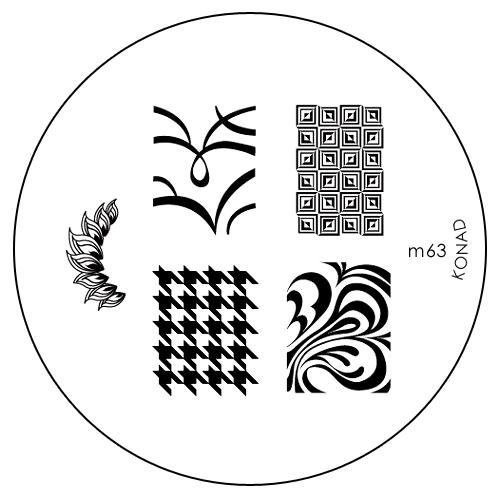 Konad Печатная форма (диск) M63 image plate31083Диск для стемпинга. Теперь создавать дизайны на ногтях стало очень просто