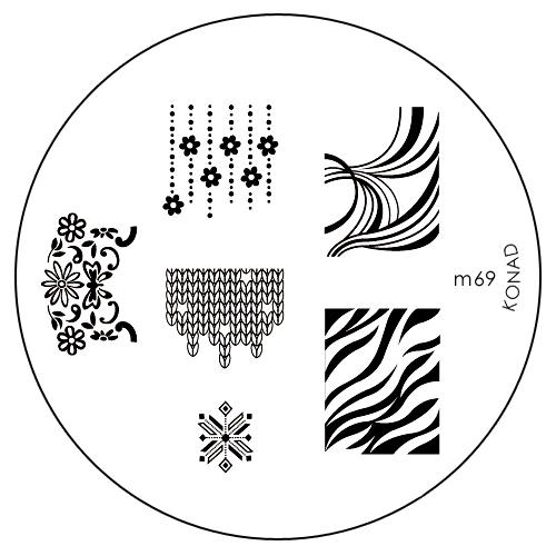 Konad Печатная форма (диск) M69 image plateFA-8115-1 White/greyДиск для стемпинга. Теперь создавать дизайны на ногтях стало очень просто