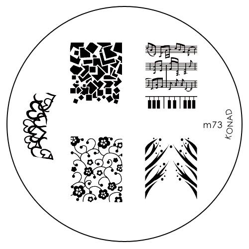 Konad Печатная форма (диск) M73 image plate50176Диск для стемпинга. Теперь создавать дизайны на ногтях стало очень просто