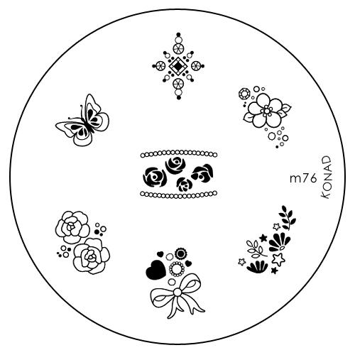 Konad Печатная форма (диск) M76 image plate1301210Диск для стемпинга. Теперь создавать дизайны на ногтях стало очень просто