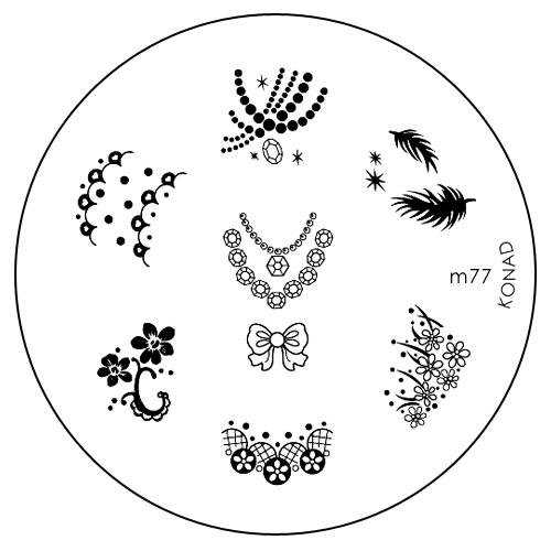 Konad Печатная форма (диск) M77 image plate80284338Диск для стемпинга. Теперь создавать дизайны на ногтях стало очень просто