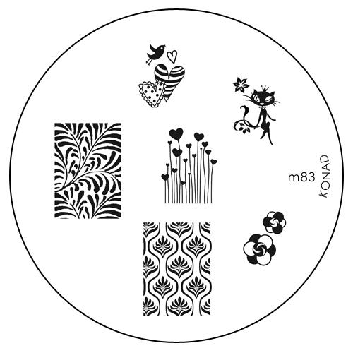 Konad Печатная форма (диск) M83 image plateWS 7064Диск для стемпинга. Теперь создавать дизайны на ногтях стало очень просто