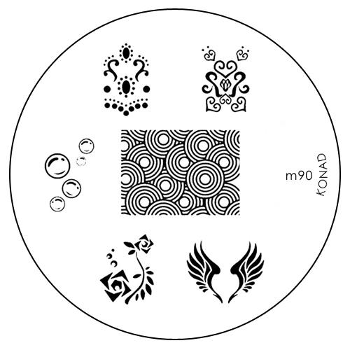 Konad Печатная форма (диск) M90 image plate50186Диск для стемпинга. Теперь создавать дизайны на ногтях стало очень просто