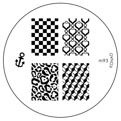 Konad Печатная форма (диск) M93 image plate5010777142037Диск для стемпинга. Теперь создавать дизайны на ногтях стало очень просто
