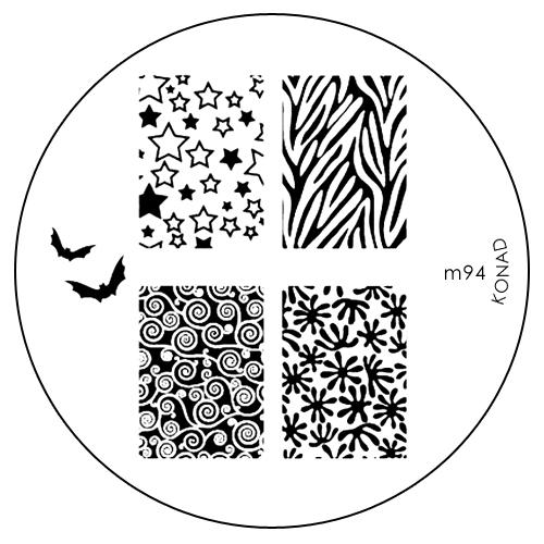 Konad Печатная форма (диск) M94 image plate30307Диск для стемпинга. Теперь создавать дизайны на ногтях стало очень просто