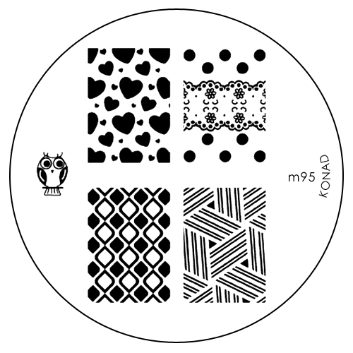 Konad Печатная форма (диск) M95 image plate31088Диск для стемпинга. Теперь создавать дизайны на ногтях стало очень просто