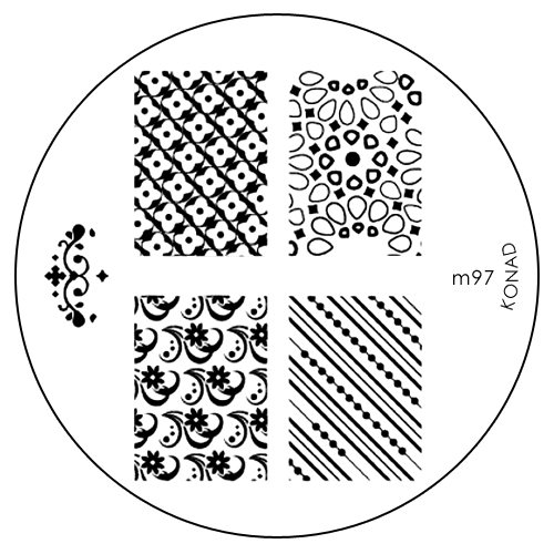 Konad Печатная форма (диск) M97 image plate31088Диск для стемпинга. Теперь создавать дизайны на ногтях стало очень просто