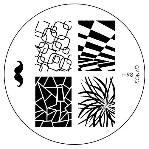 Konad Печатная форма (диск) M98 image plateSN-SIP11Диск для стемпинга. Теперь создавать дизайны на ногтях стало очень просто