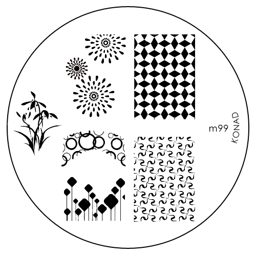Konad Печатная форма (диск) M99 image plate5010777139655Диск для стемпинга. Теперь создавать дизайны на ногтях стало очень просто