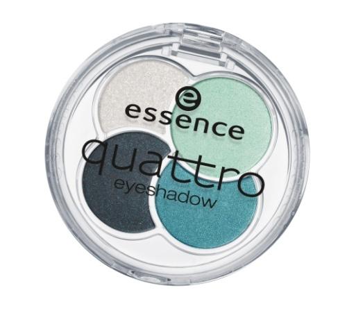 essence Тени для век QUATTRO т.13 серо-зеленые, 5гр48262Cочетание четырех восхитительных оттенков позволят создать любой тип макияжа – утонченный дневной или изысканный вечернийШелковистая текстураИдеально сохраняются в течение всего дня