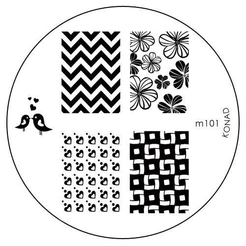 Konad Печатная форма (диск) M101 image plateGESS-701Диск для стемпинга. Теперь создавать дизайны на ногтях стало очень просто
