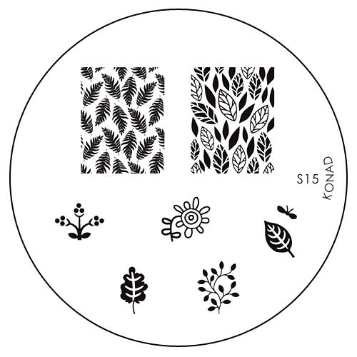 Konad Печатная форма (диск) S15 image plate1092018Диск для стемпинга. Теперь создавать дизайны на ногтях стало очень просто