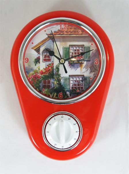 Кухонные настенные часы Дом арт.37386 (16*5*23см, с таймером без элемента питания) / 16*5*23 арт.37386300074_ежевикаКухонные настенные часы Дом арт.37386 (16*5*23см, с таймером без элемента питания) / 16*5*23 арт.37386 Материал: пластик; цвет: мультиколор