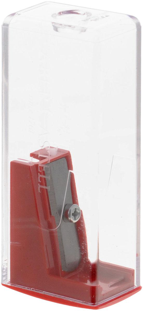 Faber-Castell Точилка с контейнером цвет красный72523WDТочилка Faber-Castell предназначена для затачивания карандашей диаметром 8 мм. Прозрачный контейнер позволяет определить уровень заполнения и вовремя произвести очистку. Острые стальные лезвия обеспечивают высококачественную и точную заточку деревянных карандашей.