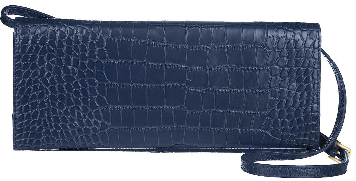 Клатч женский Fiorita, цвет: темно-синий. 0587FL39845800Стильный женский клатч Fiorita выполнен из натуральной кожи с тиснением под крокодила.Изделие имеет одно основное отделение, закрывающееся на клапан с магнитной кнопкой. Внутринаходятся два открытых накладных кармана и прорезной карман на застежке-молнии. Снаружи, назадней стенке расположены два накладных кармана на магнитах. Изделие упаковано вфирменный чехол. Роскошный клатч внесет элегантные нотки в ваш образ и подчеркнет ваше отменное чувствостиля.
