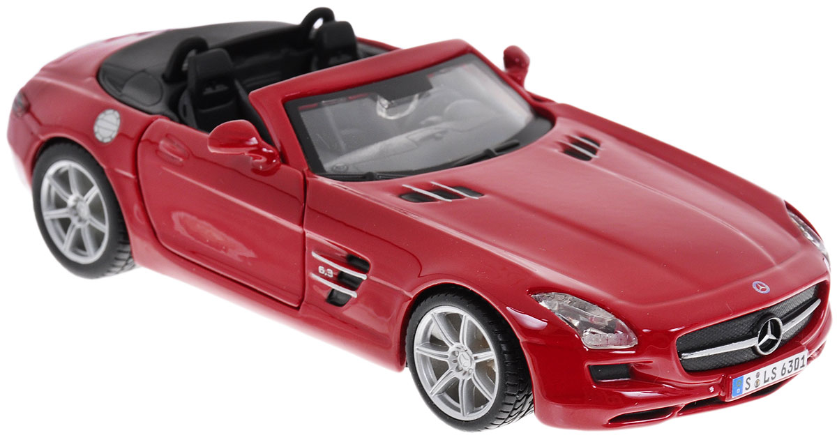Bburago Модель автомобиля Mercedes-Benz SLS AMG Roadster цвет красный new creative plush bear toy cute lying bow teddy bear doll gift about 50cm