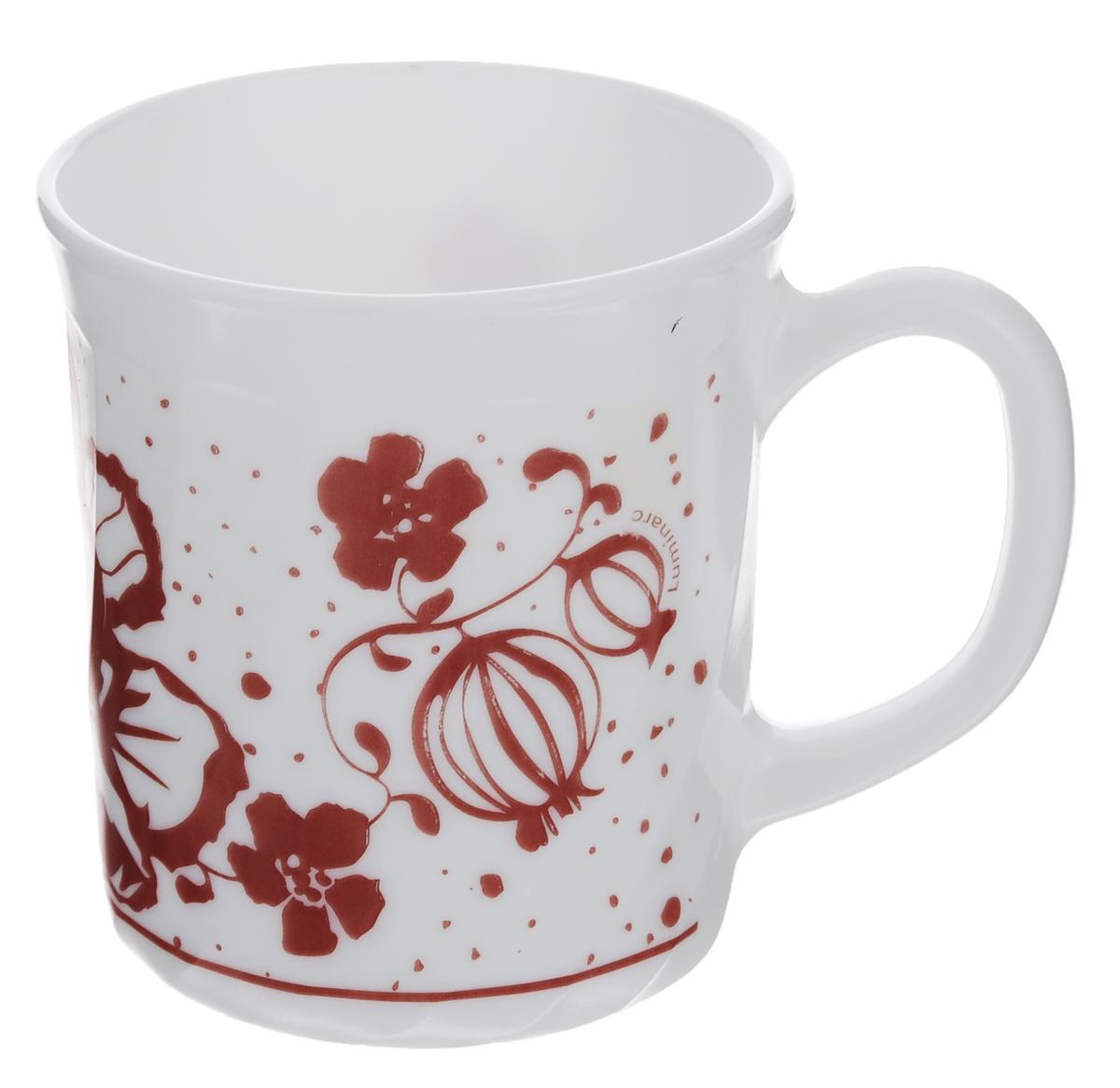 Кружка Luminarc Alcove Red, 290 мл54 009303Кружка Luminarc Alcove Red изготовлена из упрочненного стекла. Такая кружка прекрасно подойдет для горячих и холодных напитков. Она дополнит коллекцию вашей кухонной посуды и будет служить долгие годы. Объем кружки: 290 мл. Диаметр кружки (по верхнему краю): 8 см. Высота стенки кружки: 9 см.