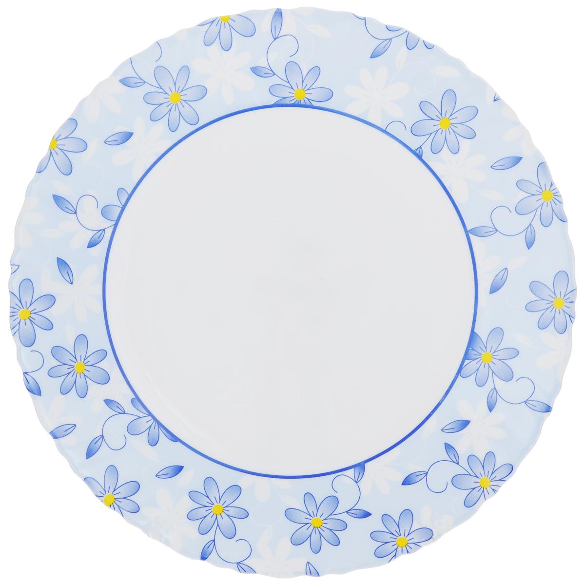 Тарелка обеденная Luminarc Gloria, диаметр 25 см115510Обеденная тарелка Luminarc Gloria, изготовленная из высококачественного стекла, украшена ярким цветочным рисунком. Изящный дизайн придется по вкусу и ценителям классики, и тем, кто предпочитает утонченность. Тарелка Luminarc Gloria идеально подойдет для сервировки стола и станет отличным подарком к любому празднику.Диаметр (по верхнему краю): 25 см.
