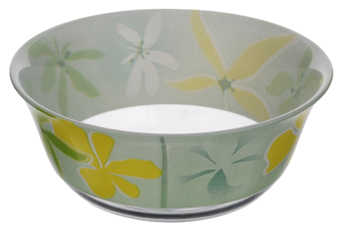 Салатник Luminarc Green Ode, диаметр 12 см115510Салатник Luminarc Green Ode, выполненный из ударопрочного стекла, декорирован изображением цветов. Изящный дизайн придется по вкусу и ценителям классики, и тем, кто предпочитает утонченность. Салатник Luminarc Green Ode идеально подойдет для сервировки стола и станет отличным подарком к любому празднику.Диаметр (по верхнему краю): 12 см.Высота стенки: 5,5 см.
