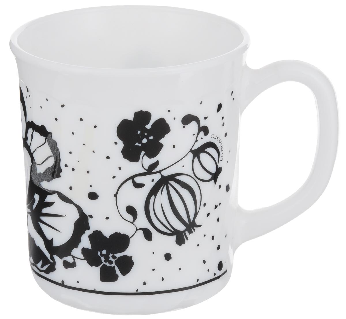 Кружка Luminarc Alcove Black, 290 мл54 009312Кружка Luminarc Alcove Black изготовлена из прочного стекла. Такая кружка прекрасно подойдет для горячих и холодных напитков. Она дополнит коллекцию вашей кухонной посуды и будет служить долгие годы. Объем кружки: 290 мл. Диаметр кружки (по верхнему краю): 8 см.