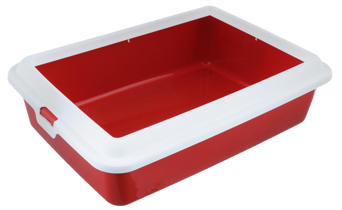 Туалет-лоток для животных MPS Hydra Mini, с рамкой, цвет: красный, 43 см х 31 см х 12 см0120710Туалет-лоток для животных MPS Hydra Mini выполнен из прочного пластика. Высокие бортики и рама, прикрепленная к лотку, предотвращают разбрасывание наполнителя.Благодаря качественным материалам лоток легко убирается, быстро сохнет и не впитывает посторонние запахи.Товар сертифицирован.