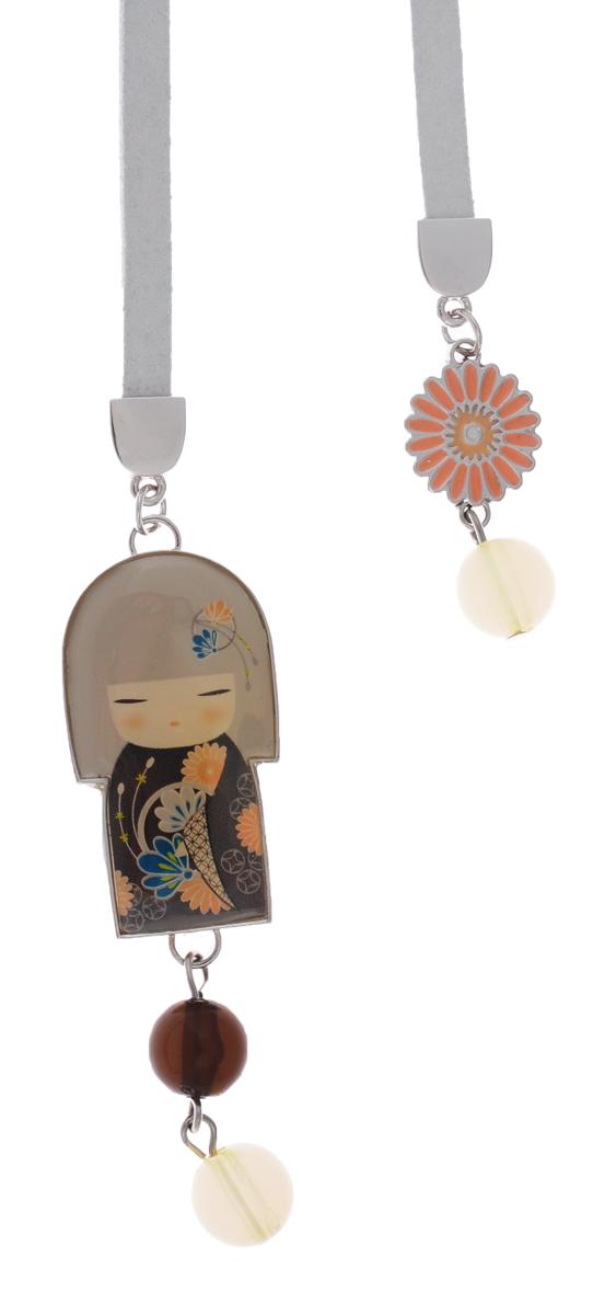 Kimmidoll Закладка для книги ЮаFS-00897• Декорирована куколкой-подвеской и бисером.• Упакована в подарочую коробочку. • Превосходное качество материала и многофункицональность сделает эту закладку по-настоящему любимой. Размер: шнурка 30 см, куколки 6 см.