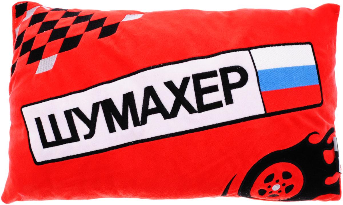 Maxi Toys Подушка автомобильная Шумахер17102027Мягконабивная автомобильная подушка Шумахер, изготовленная из гипоаллергенных материалов, поможет снять напряжение и расслабиться. Чехол подушки выполнен из искусственного меха красного цвета с надписью Шумахер, наполнитель - полиэфирное волокно. Подушка прекрасно подойдет для хранения в автомобиле, на случай если пассажирам захочется отдохнуть. Легкая и удобная, она создаст правильное комфортное положение шеи и головы и обеспечит спокойный сон даже во время езды. Кроме того, она отлично будет смотреться на заднем сидении и украсит салон автомобиля.