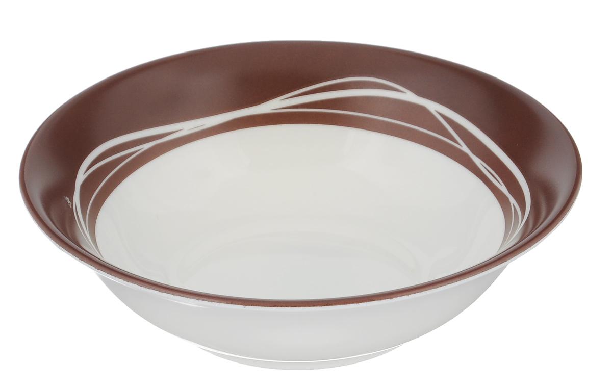 Миска Luminarc Raffia Brown, диаметр 16 см13012Миска Luminarc Raffia Brown выполнена из высококачественного стекла. Изделие сочетает в себеизысканный дизайн с максимальной функциональностью. Она прекрасно впишется в интерьер вашей кухни и станет достойным дополнением к кухонному инвентарю. Миска Raffia Brown подчеркнет прекрасный вкус хозяйки и станет отличным подарком. Диаметр миски (по верхнему краю): 16 см. Высота стенки: 5 см.