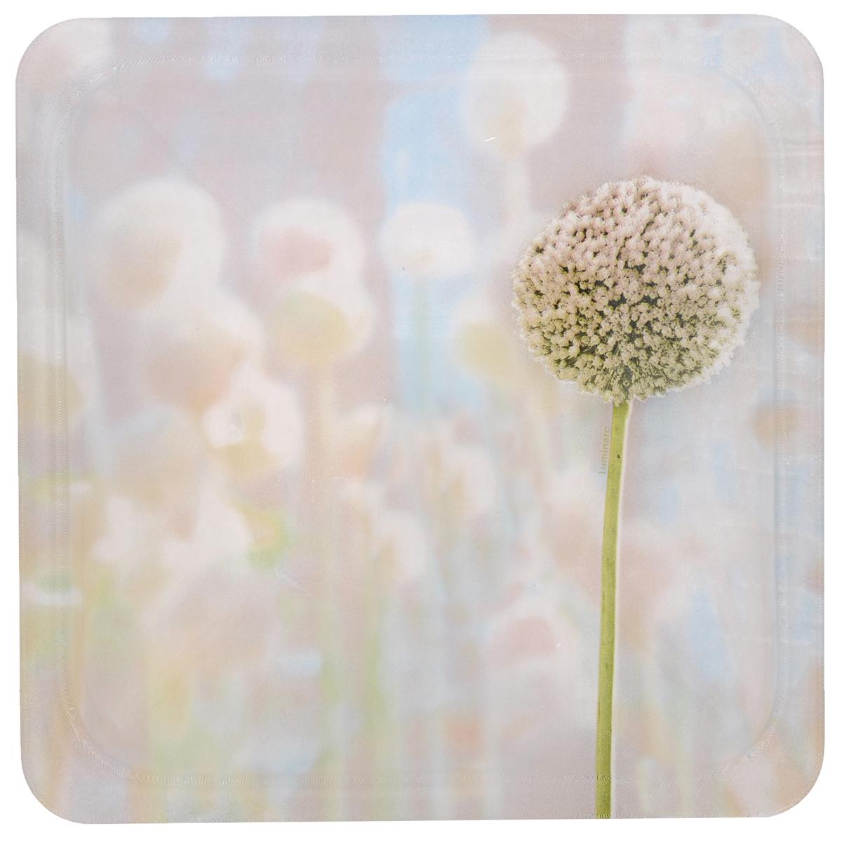Тарелка Luminarc Eternal Spring, 25 см х 25 см115510Тарелка Luminarc Eternal Spring, декорированная нежным цветочным рисунком, изготовлена из высококачественного ударопрочного стекла. Изделие устойчиво к повреждениям и истиранию, в процессе эксплуатации не впитывает запахи и сохраняет первоначальные краски. Посуда Luminarc обладает не только высокими техническими характеристиками, но и красивым эстетичным дизайном. Luminarc - это современная, красивая, практичная столовая посуда. Такая тарелка идеально подходит для красивой сервировки закусок и нарезок. Можно использовать в СВЧ и мыть в посудомоечной машине.