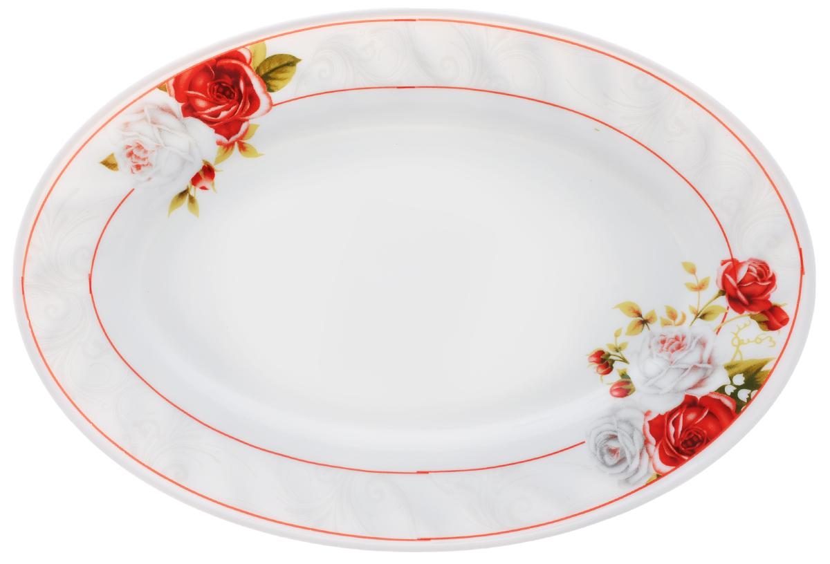 Блюдо Chinbull Классик, 25 см х 17 см503527Блюдо Chinbull Классик, изготовленное из экологически чистой стеклокерамики, оформлено красочным рисунком цветов и изящными узорами. Такое блюдо прекрасно подходит как для торжественных случаев, так и для повседневного использования. Идеально оформит стол и станет отличным дополнением к вашей коллекции кухонной посуды.Размер блюда (по верхнему краю): 25 см х 17 см.Высота стенки: 2 см.