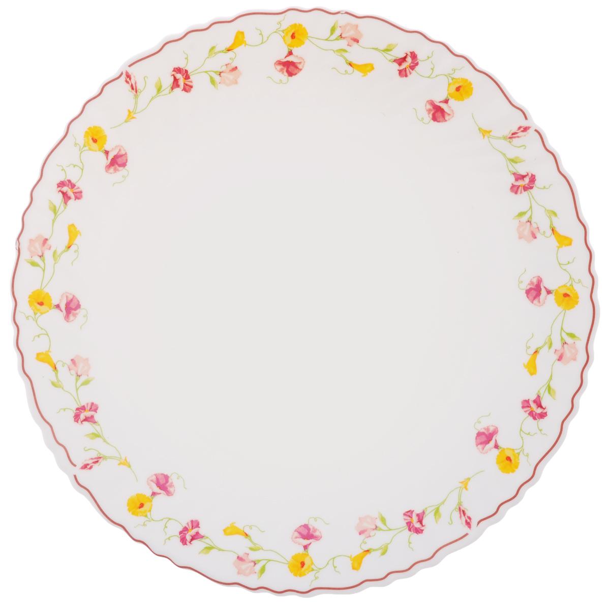 Тарелка обеденная Chinbull Эльзас, диаметр 24 см54 009312Обеденная тарелка Chinbull Эльзас, изготовленная из высококачественной стеклокерамики, украшена ярким цветочным рисунком. Изящный дизайн придется по вкусу и ценителям классики, и тем, кто предпочитает утонченность. Тарелка Chinbull Эльзас идеально подойдет для сервировки стола и станет отличным подарком к любому празднику.Диаметр (по верхнему краю): 24 см.
