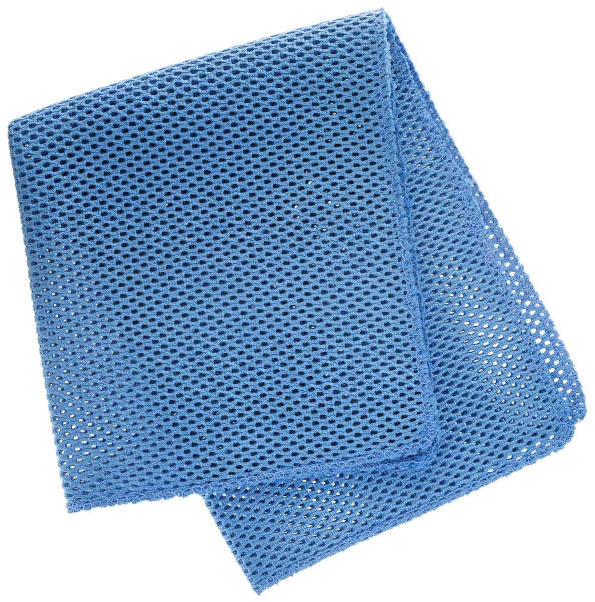 Салфетка для уборки Eva, сетчатая, цвет: синий, 30 см х 35 смЕ71_синийСетчатая салфетка Eva, изготовленная из полиамида и полиэстера, предназначена для очищения загрязнений на любых поверхностях. Изделие обладает высокой износоустойчивостью и рассчитано на многократное использование, легко моется в теплой воде с мягкими чистящими средствами. Супервпитывающая салфетка не оставляет разводов и ворсинок, удаляет большинство жирных и маслянистых загрязнений без использования химических средств.