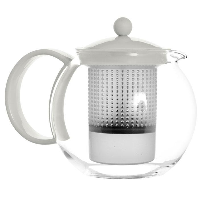 Френч-пресс Bodum Assam, цвет: белый, 1 л. 1844-91354 009312Френч-пресс Bodum Assam, выполненный из стекла, пластика и нержавеющей стали, практичный и простой в использовании. Он займет достойное место на вашей кухне и позволит вам заварить свежий, ароматный чай. Засыпая чайную заварку в фильтр-сетку и заливая ее горячей водой, вы получаете ароматный чай с оптимальной крепостью и насыщенностью. Остановить процесс заварки чая легко. Для этого нужно просто опустить поршень, и заварка уйдет вниз, оставляя вверху напиток, готовый к употреблению. Современный дизайн полностью соответствует последним модным тенденциям в создании предметов бытовой техники.Диаметр френч-пресса по верхнему краю (без учета носика и ручки): 9,5 см.Максимальный диаметр френч-пресса: 15 см.Высота френч-пресса (с учетом крышки): 15 см.