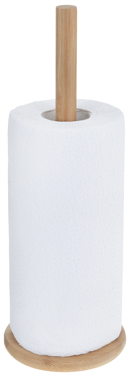 Держатель для бумажных полотенец Dormann, цвет: светлое дерево, высота 33 см115212Держатель для бумажных полотенец Dormann изготовлен из высококачественного дерева. Круглое основание гарантирует устойчивость. Рулон накладывается сверху. Вы можете установить держатель в любом удобном месте. Такой держатель станет полезным аксессуаром в домашнем быту и идеально впишется в интерьер современной кухни. В комплекте - рулон бумажных полотенец. Высота держателя: 33 см.Диаметр основания: 12 см.