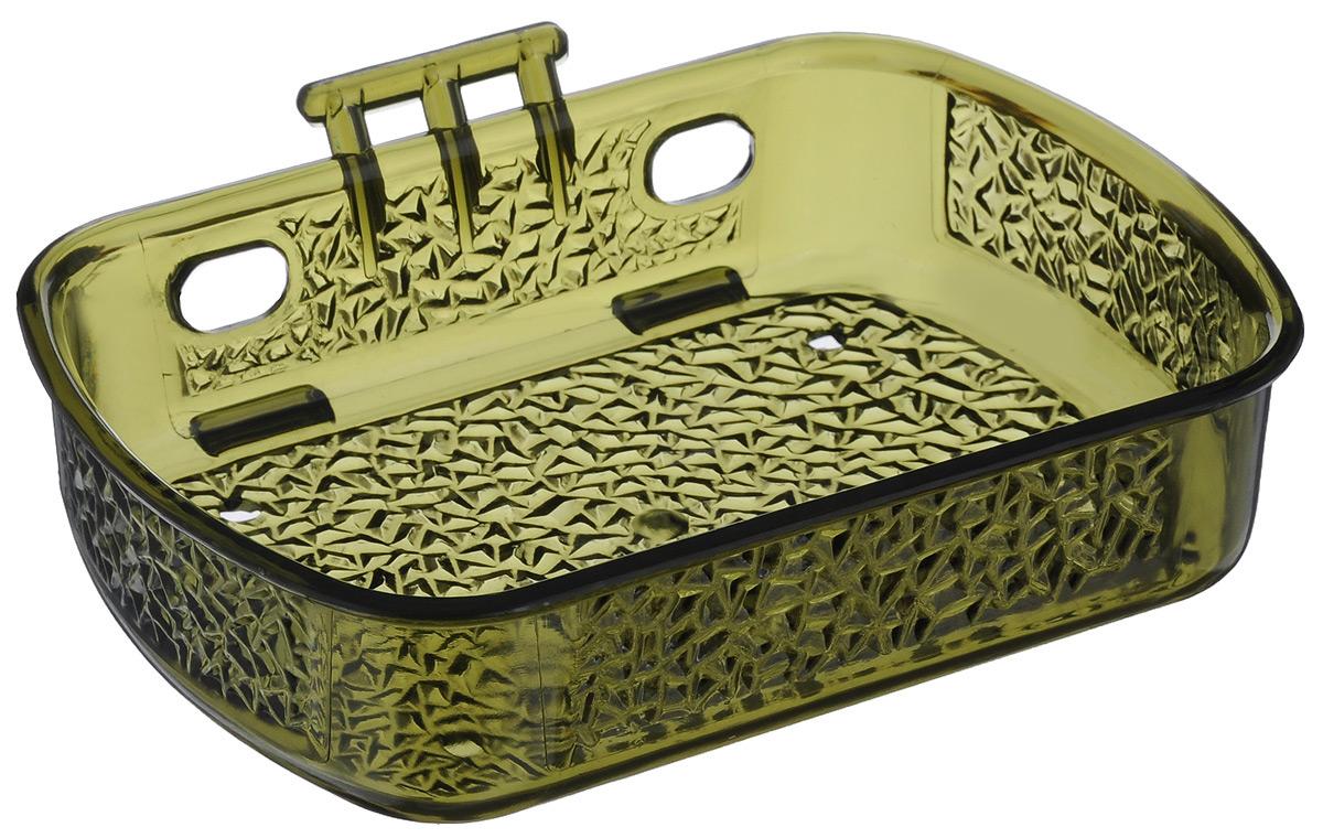 Мыльница Fresh Code, на липкой основе, цвет: зеленый, 10 х 13,5 х 3 см55764 коричневыйМыльница для ванной комнаты Fresh Code выполнена из цветного пластика, декорированного красивым рельефом. Крепление на липкой ленте многократного использования идеально подходит для гладкой поверхности. Такая мыльница прекрасно подойдет для интерьера ванной комнаты.